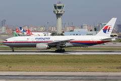 Malaysia Airlines Boeing 777-200 sister aircraft of plane missin Stock Photography