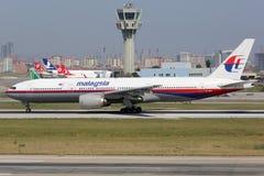Malaysia Airlines Boeing 777-200 systerflygplan av den plana missinen Arkivbild