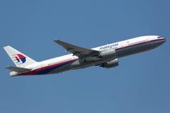 Malaysia Airlines Boeing 777-200 zustervliegtuigen van verpletterd plan Stock Foto's