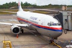 Malaysia Airlines chez Kuala Lumpur Airport. Images libres de droits
