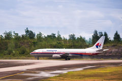 A Malaysia Airlines at Kuala Lumpur Airport. Royalty Free Stock Image