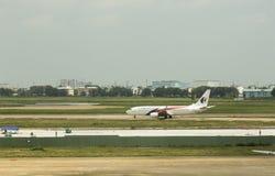 Malaysia Airlines på den Ho Chi Minh flygplatsen Royaltyfri Fotografi