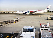 Malaysia Airlines plane landed Stock Photos