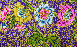 Malaysia Batik Pattern IX Stock Photo