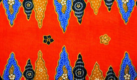 Malaysia Batik Pattern Stock Photo