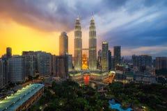 Malaysia cityscape stock photo