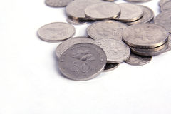 Malaysia Coin. Close up of Malaysia Coin with white White Background Royalty Free Stock Images