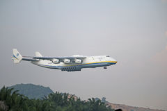 Malaysia, 2016 - commercial airliner on taxing for landing at Kuala Lumpur International Airport Stock Photo