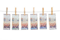 Malaysia Currency on Clothesline Stock Images