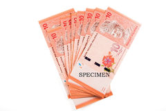 Malaysia currency coins and banknotes Stock Image