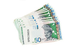 Malaysia currency coins and banknotes Stock Photos