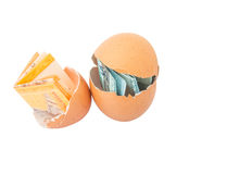 Malaysia Currency and Eggshells IV Stock Image