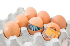 Malaysia Currency and Eggshells VIII Royalty Free Stock Photos