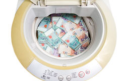 Malaysia Currency in washing machine Royalty Free Stock Image