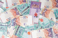 Malaysia Currency in white background Stock Photo