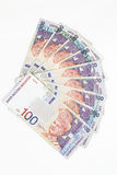 Malaysia Currency in white background Royalty Free Stock Images