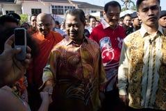 Malaysia Deputy Prime Minister. KUALA LUMPUR, MALAYSIA, May 17: Deputy Prime Minister Malaysia, Tan Sri Muhyiddin Yasin and Ven. Kirinde Dhammaratana Thera the Royalty Free Stock Images