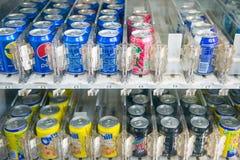 Malaysia - 12 Februari 2017:: läskvattenvaruautomat a Royaltyfri Bild
