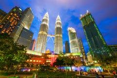 Malaysia - 12 Febuary 2017 :: Petronas tower symbol of Kuala lum Stock Image