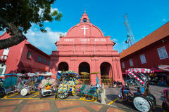 Malaysia - 10 Febuary 2017 :: Red christ church landmark of Mela Royalty Free Stock Images