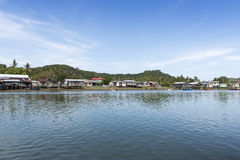 Malaysia fishing village scenery Royalty Free Stock Photography