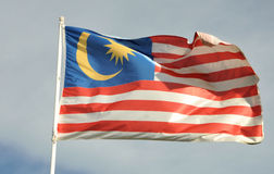 Malaysia flag. Pic of the waving flag of Malaysia Stock Photography