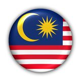 Malaysia Flag. World Flag Button Series - Asia - Malaysia (With Clipping Path
