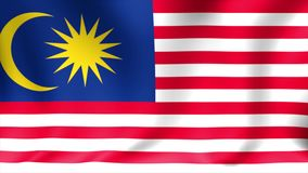 Malaysia Flag. Background Seamless Looping Animation. 4K High Definition Video. Malaysia Flag. Background Seamless Looping Animation. 4K HD Video stock footage