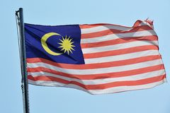 Malaysia Flag. Flag of Malaysia close up Stock Photo