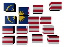 Malaysia Flag on cubes Stock Images
