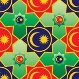 Malaysia flag element Ramadan Kareem seamless pattern. This illustration is design Malaysia flag element with Ramadan Kareem star shape idea with seamless royalty free illustration