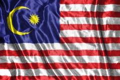 Malaysia  flag.flag on background Stock Images