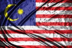 Malaysia  flag.flag on background Royalty Free Stock Photos
