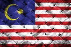 Malaysia flag, flag on the wood.  stock photography