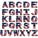 Malaysia flag font Stock Photos