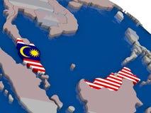 Malaysia with flag Stock Image