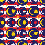 Malaysia flag icon symmetry seamless pattern Stock Images