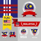 Malaysia flag in various shape Royalty Free Stock Photos
