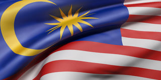 Malaysia flag waving Stock Images