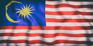 Malaysia flag waving Royalty Free Stock Photos