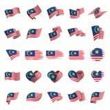 Malaysia flagga, vektorillustration vektor illustrationer