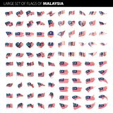 Malaysia flagga, vektorillustration Royaltyfri Bild