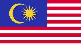 Malaysia flaggabild stock illustrationer