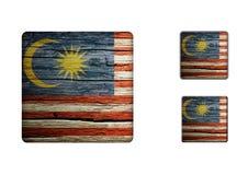 Malaysia flaggaknappar Royaltyfria Bilder
