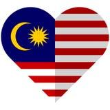 Malaysia flat heart flag Royalty Free Stock Image