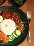 Malaysia food nasi lemak Royalty Free Stock Photo