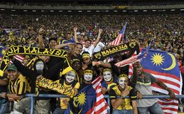Malaysia Football Fans with flag