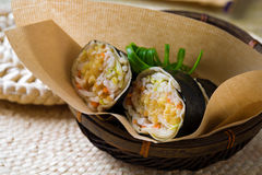 Malaysia fresh spring roll stock photo