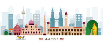 Malaysia gränsmärkehorisont Royaltyfri Bild