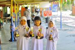 Malaysia grundskola för barn mellan 5 och 11 årbarn Fotografering för Bildbyråer